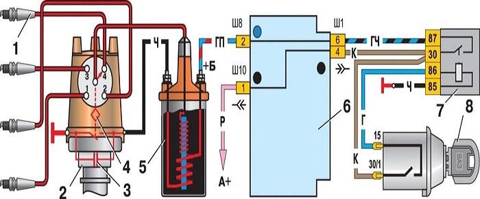 Схема зажигания