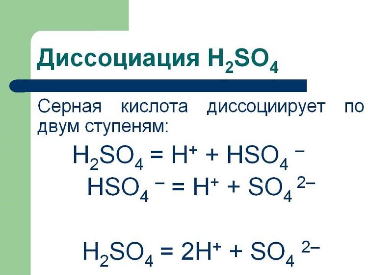 Формула диссоциации