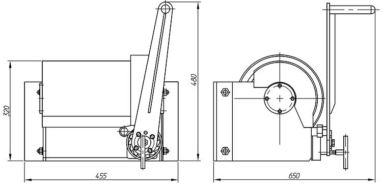 Схема лебедки
