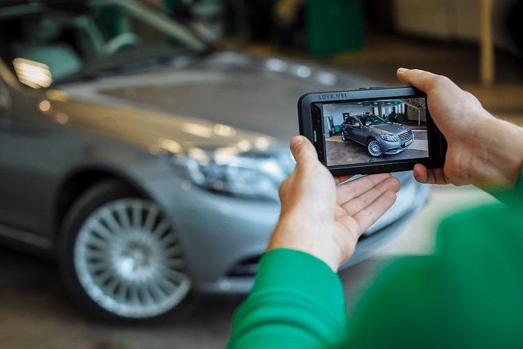 Фотографирования автомобиля