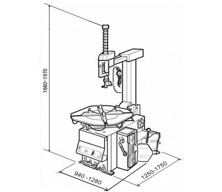 Схема шиномонтажа