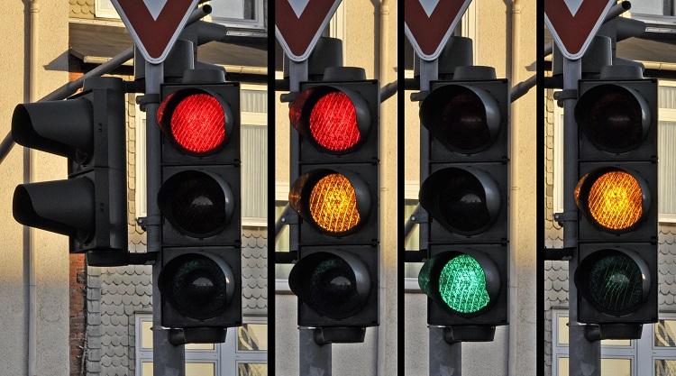 Сочетание цветов светофора