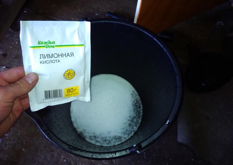 Промывка печки лимонной кислотой